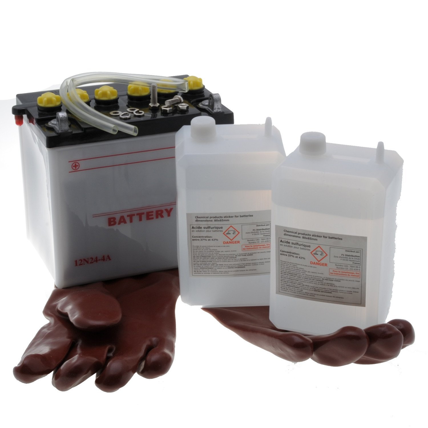 The Tractor Tractor Battery 12N24-4Comes With Acid Jardiaffaires