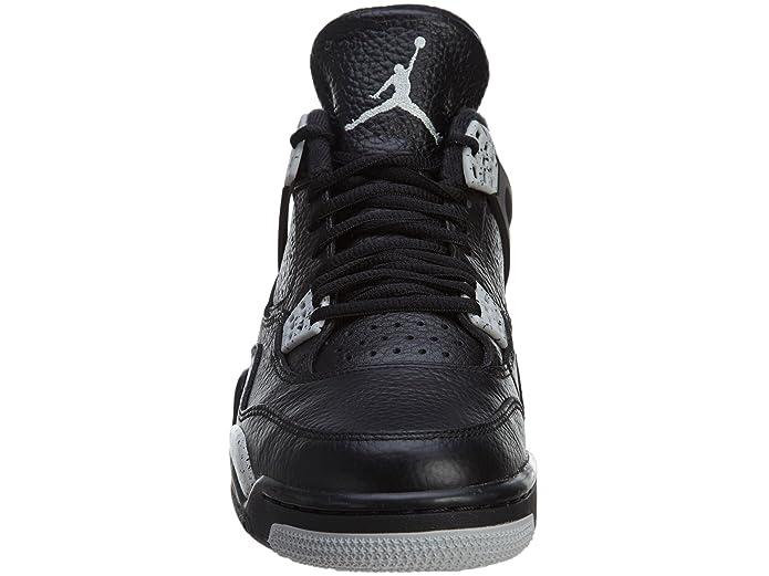 100% authentic f69dd 5f074 Amazon.com   Jordan Mens Retro 4 LS Black Black Tech Grey 314254-003 15    Basketball