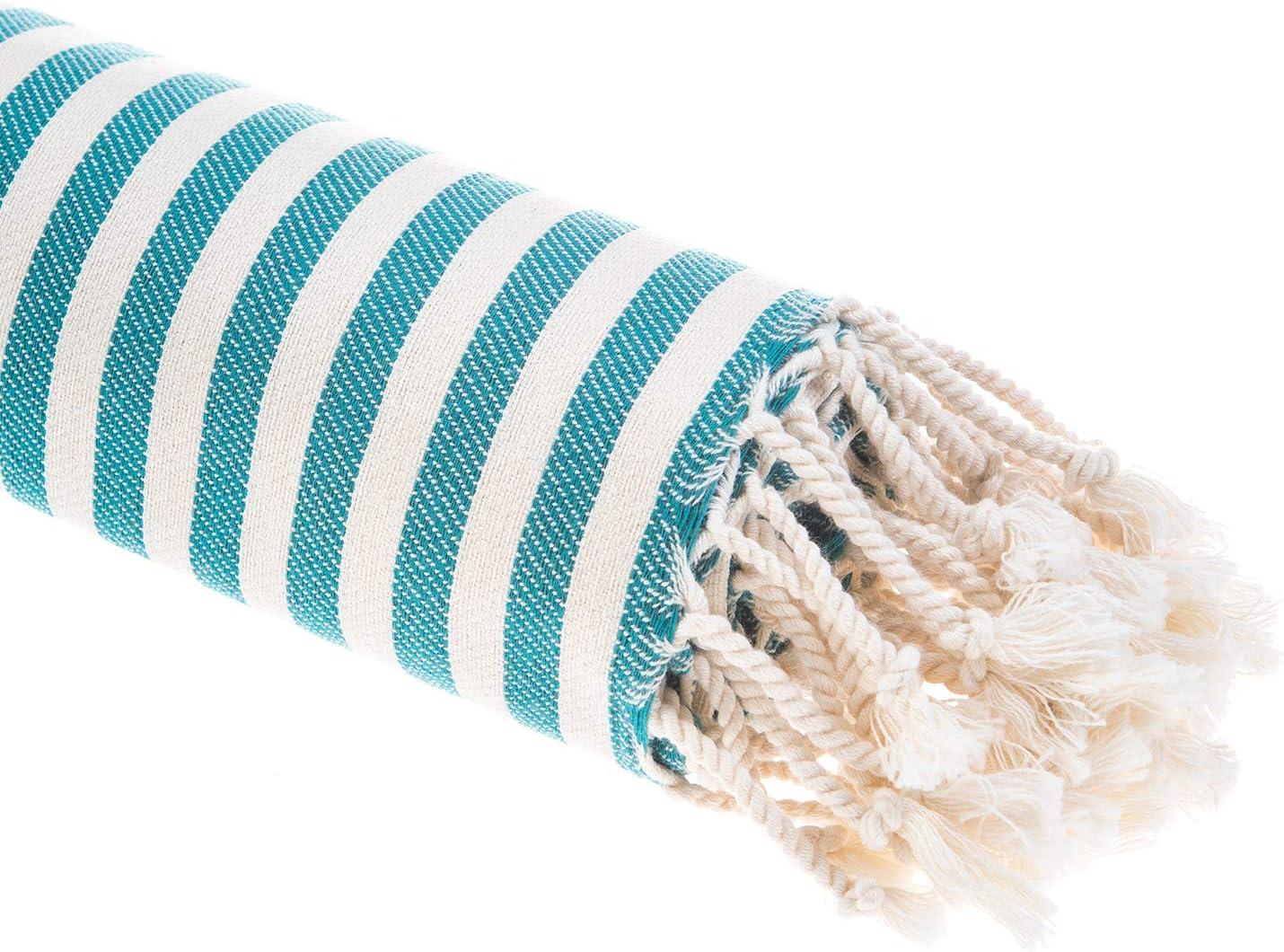 Ocean Blue Striped 180 x 90 x 1 cm Asciugamano Turco per hammam KZY