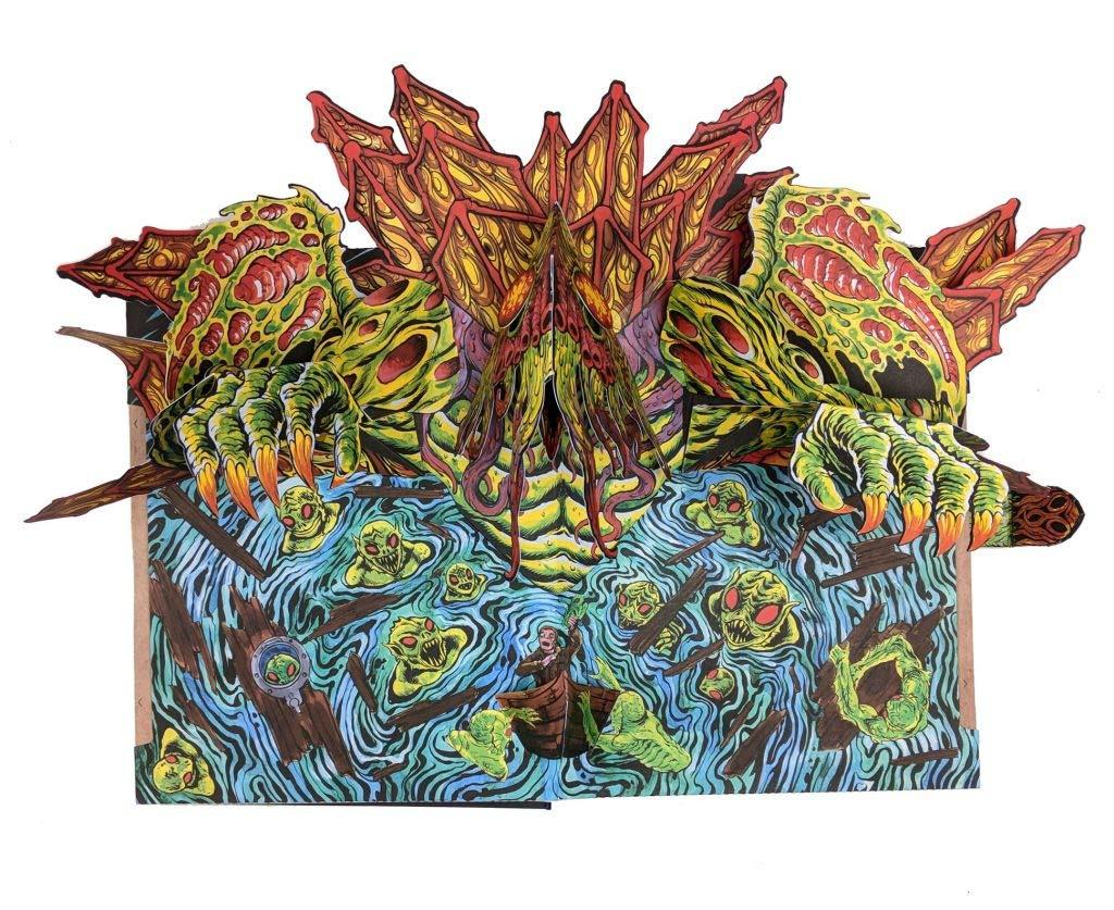 Necronomicon Pop Up Book Elder God Edition Skinner Lovecraft Cthulhu Signed