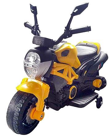 Hunter Motocicletta Elettrica 6v Moto Gialla Go Kid Bambini Per gf7vYyb6