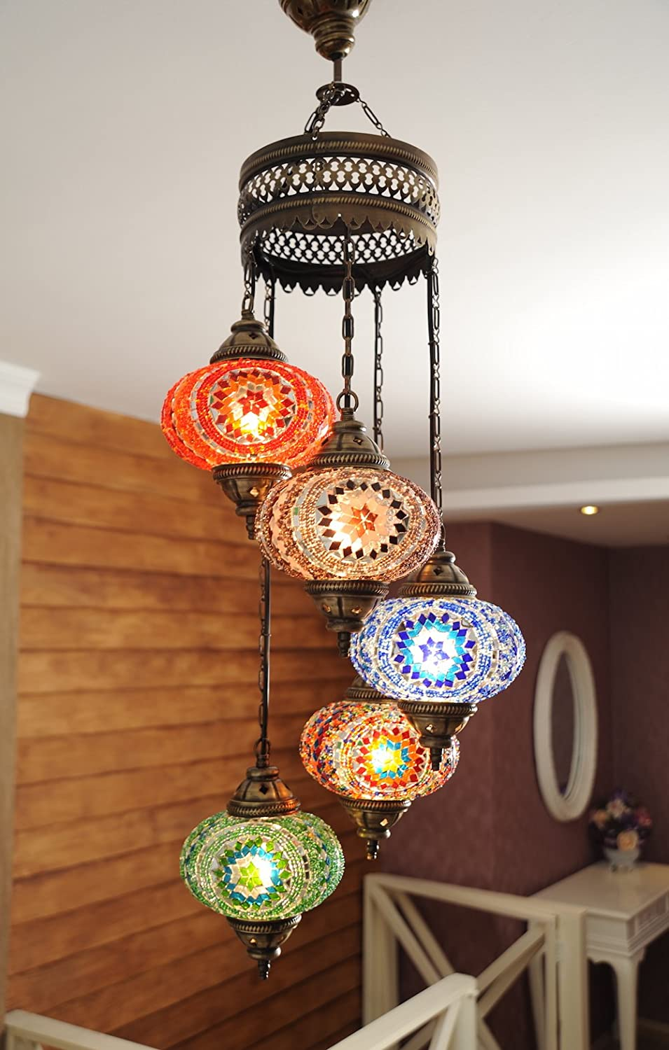 Choose from 12 designs turkish moroccan mosaic glass chandelier lights hanging ceiling lamps xlarge 2