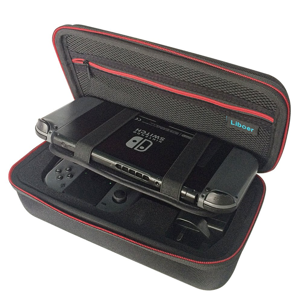 Liboer Hard Carrying Case Travel Bag with Handle for Nintendo Switch Console and Accessories BN30 (Console, Charger and Joycon not Included)
