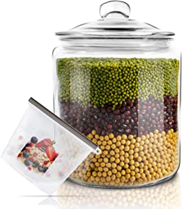 Glass Jar with Fresh Sealed Lid 1 Gallon Glass Storage Container Jars Used To Store Food & Make Medicinal Liquor Storage Jar Masthome