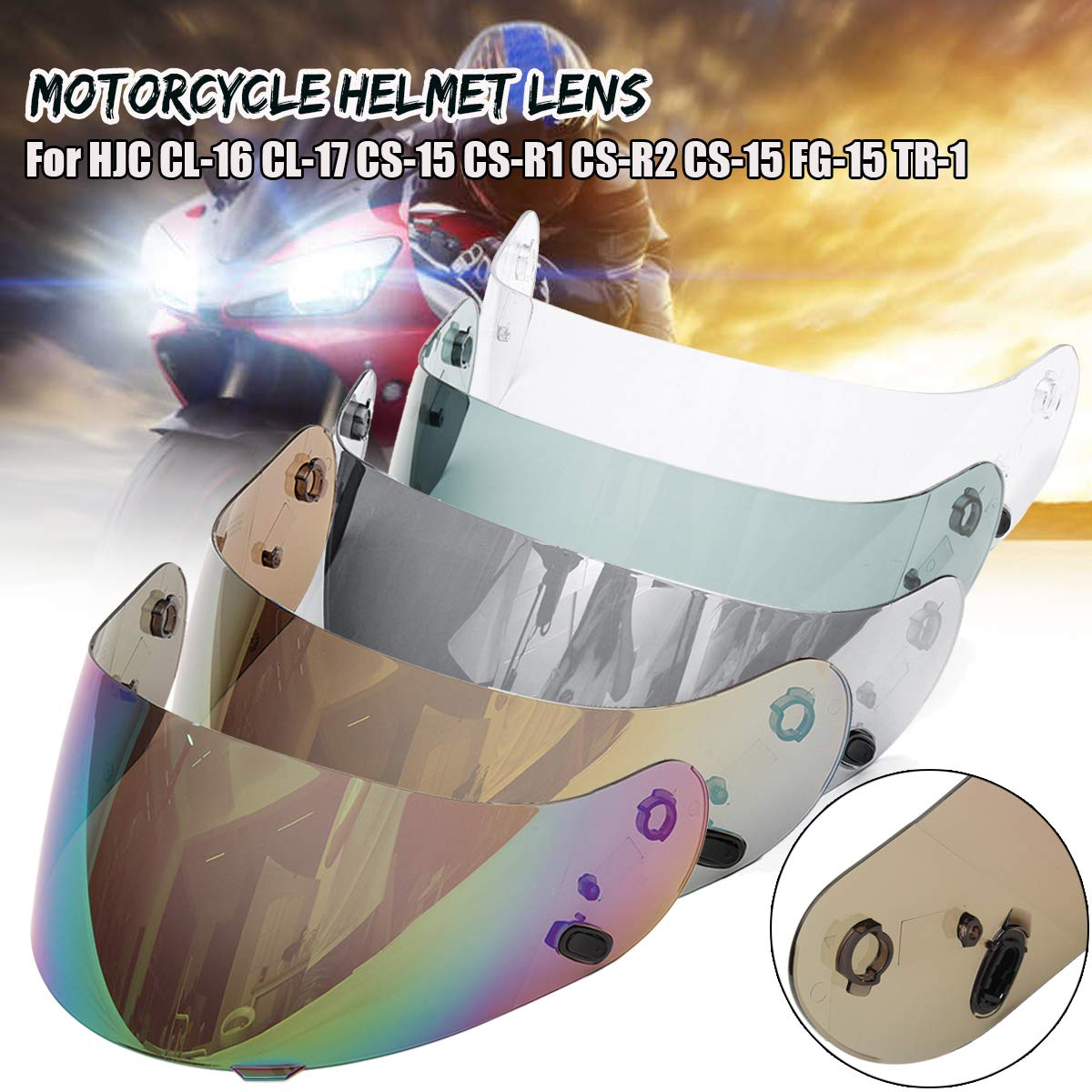 Visera protectora para lente de casco de motocicleta para HJC CL-16 CL-17 CS-15 CS-R1 CS-R2 CS-15