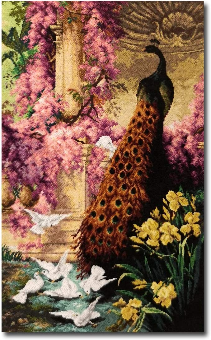 ohne Garn cod 2629T Orchidea Gobelin Stickbild Stickvorlage halber Kreuzstich 50x80cm