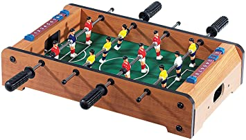 Playtastic Tischfussball Mini Tischkicker In Massiver Holz Qualitat Kicker