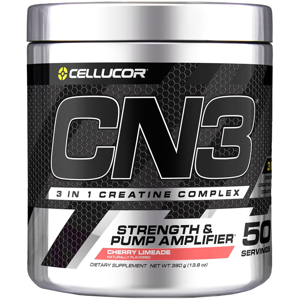 Cellucor CN3 Creatine Nitrate, Creatine HCl, Creatine Monohydrate Powder, Strength and Pump Amplifier, Cherry Limeade, 50 Servings