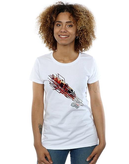 Marvel Mujer Avengers Iron Man Shooting Burst Camiseta  Amazon.es  Ropa y  accesorios 517dcecb1a8c8