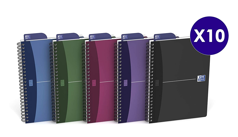 90 g confezione da 10 pezzi 100101930 Urban 14,8 x 21 CM 100 pagine Oxford Office-Libro a spirale