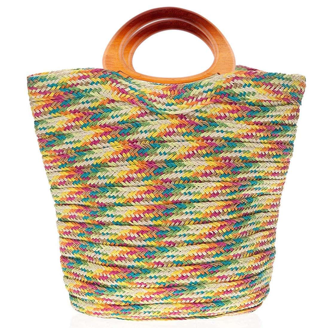 4Pcs Wooden Oval Shaped Handles Replacement for Handmade Bag Beach Bag Handbags Straw Bag Purse Handles