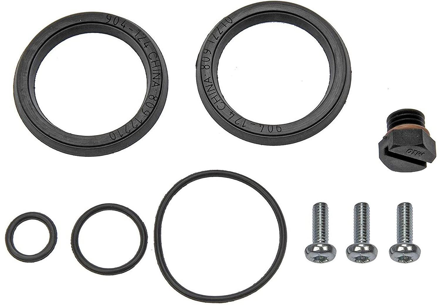 015235 fuel filter primer housing bleed screw o-ring re-seal kit fits  2001-2012 chevrolet gmc 6 6l duramax diesel engine (replaces 12642623):  automotive