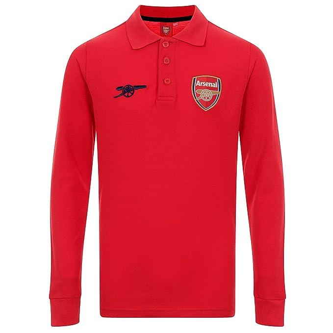Arsenal FC Polo de Manga Larga Oficial - Para Niño  Amazon.es  Ropa y  accesorios 4278cd48ef983