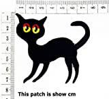 Black Cat Halloween Scary Ghost cat Red Eye Cartoon