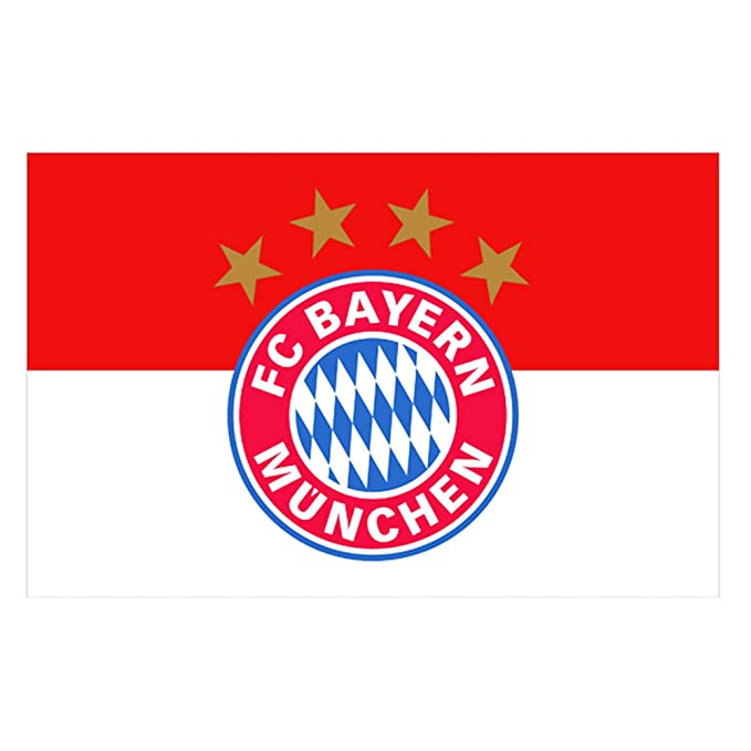 FC Bayern Munich Official Football Crest Supporters Flag (One Size) (White/Red