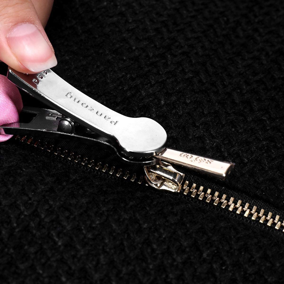 Unique Mushroom Head Design Works on Multiple Zipper Types Pink Lanyard Zip up Dress and Boots by Yourself Premium Zipper Puller Dress Zipper Helper Easy to use Zipper Assistant