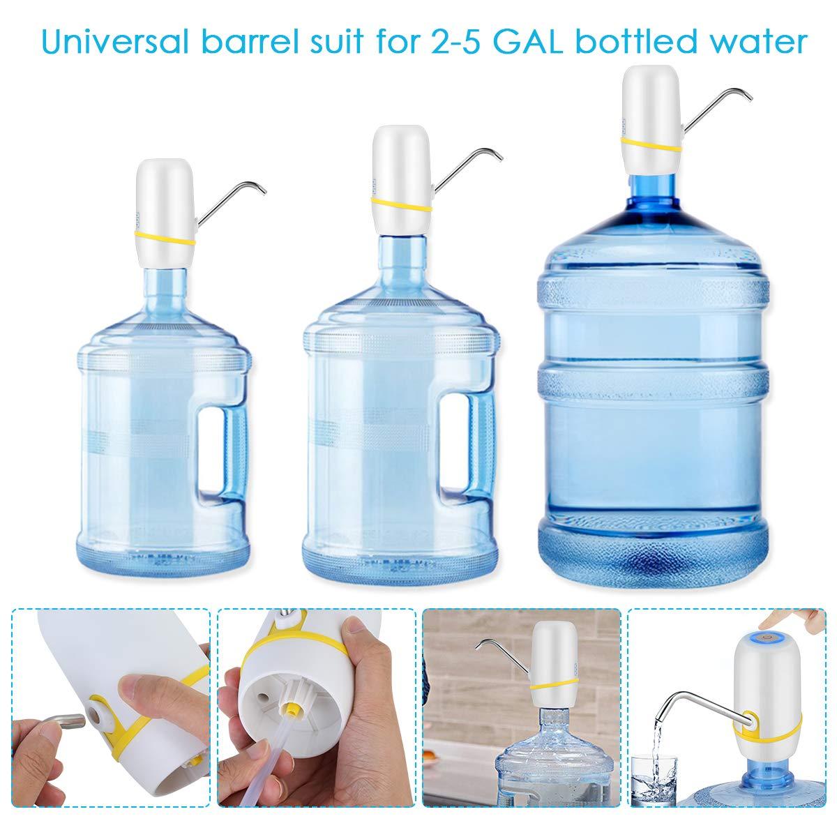 Amazon.com: Bomba de agua eléctrica para botella de agua de ...