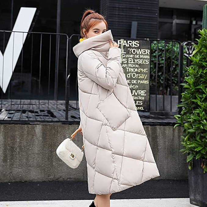 ❤ Abrigo Largo de Mujer, Casual otoño Invierno Abrigo de botón Suelta Chaquetas largas de algodón Acolchado Abrigos de Bolsillo Tops de Mujer Absolute: ...