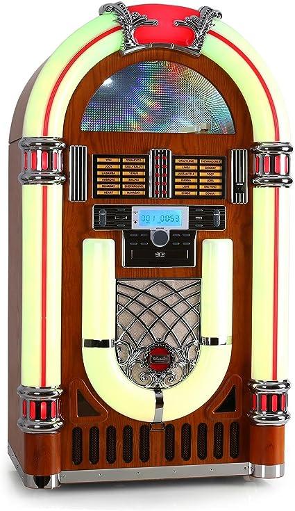 Ricatech RR2100 - Tocadiscos Retro Jukebox y Reproductor de CD ...