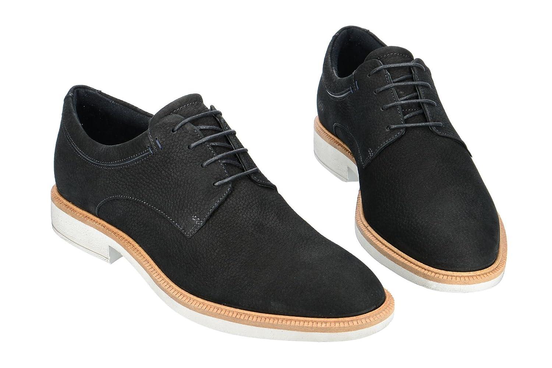 Ecco Vitrus II, Zapatos de Cordones Oxford para Hombre, Negro (Black Sambuck 02001), 42 EU Ecco