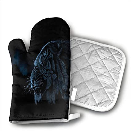 Amazon com: QQDGK Fantasy Jungle Tiger Oven Mitts - air of