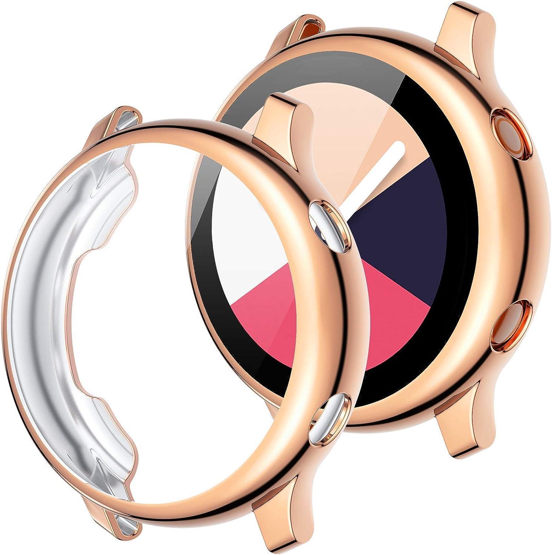 2 Fundas Para Galaxy Watch Active 40 Mm rosa gold