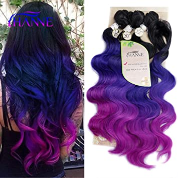 HANNE Ombre Color Hair Synthetic Body Wave Hair 18\