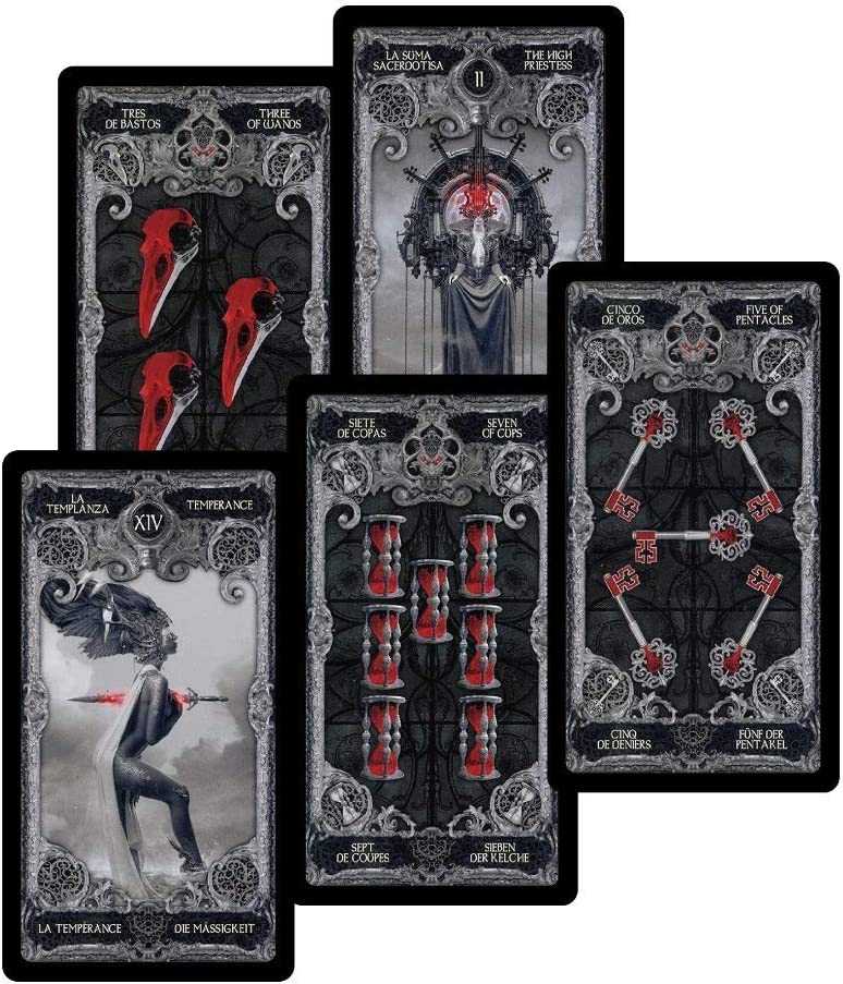WooMeWooU 2020 Tarot Cards-Oracle Cards Decks-Doreen Virtue Radleigh-Valentine RuPauls Drag Race Tarot Cards-Aleister Crowley Tarot Card Holder