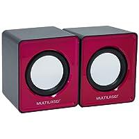 Caixa De Som Multilaser 2.0 Mini 3W Rms Rosa - SP198 Multilaser SP198,