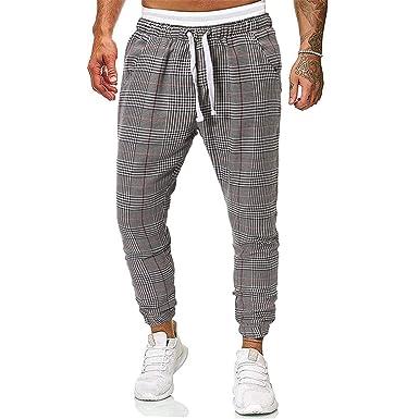 Nsdetyws Pantalones Cargo de Moda para Hombre, Casual, Pantalones ...