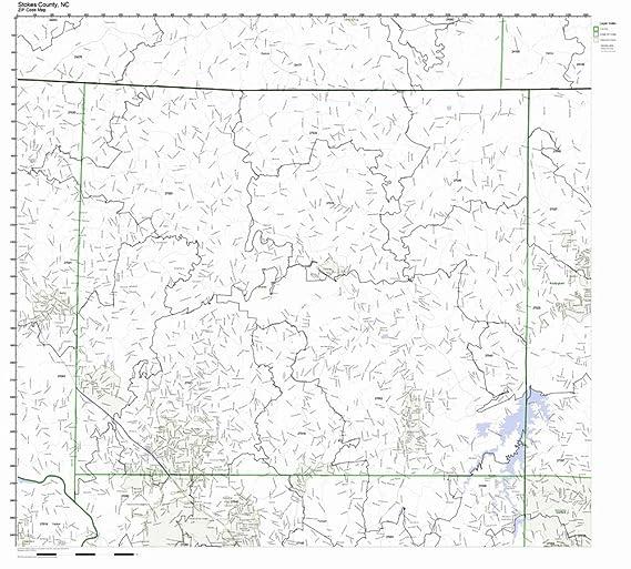 Amazon Com Stokes County North Carolina Nc Zip Code Map Not