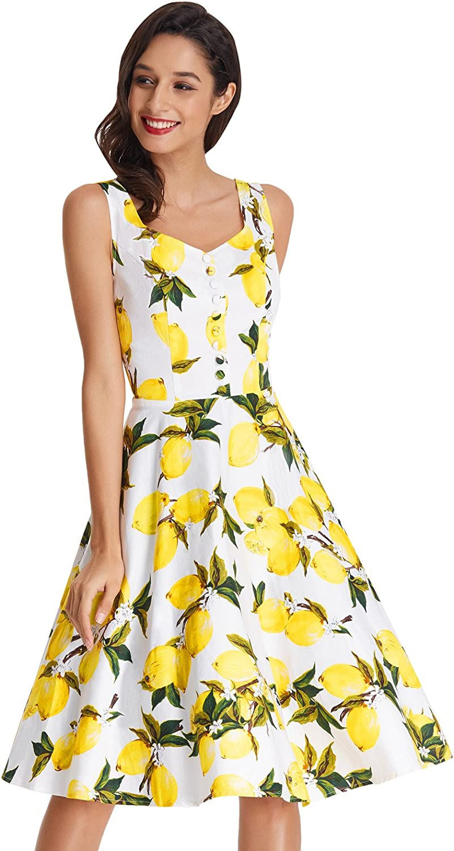 1950s Dresses, 50s Dresses | 1950s Style Dresses Belle Poque Homecoming 1950s Retro Vintage Sleeveless V-Neck Flared A-Line Dress BP416 $31.66 AT vintagedancer.com