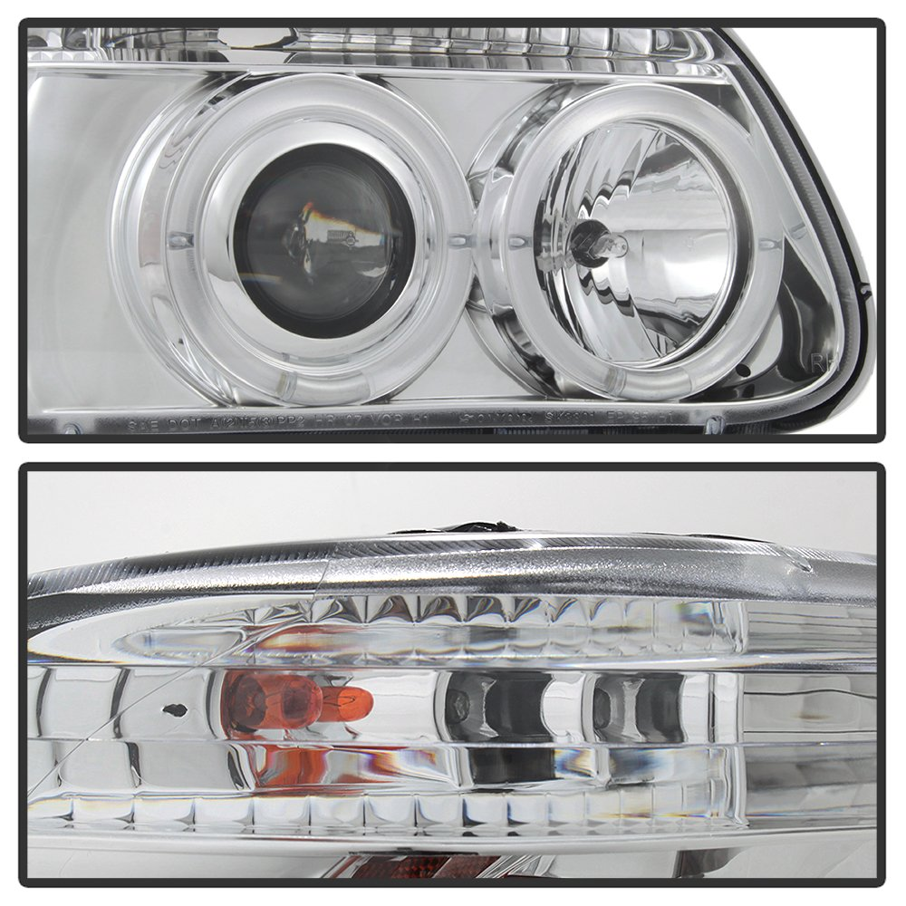 Amazon.com: 2000 FORD EXPLORER HALO PROJECTOR HEADLIGHTS HEAD LIGHTS + 8  LED FOG BUMPER LAMP: Automotive