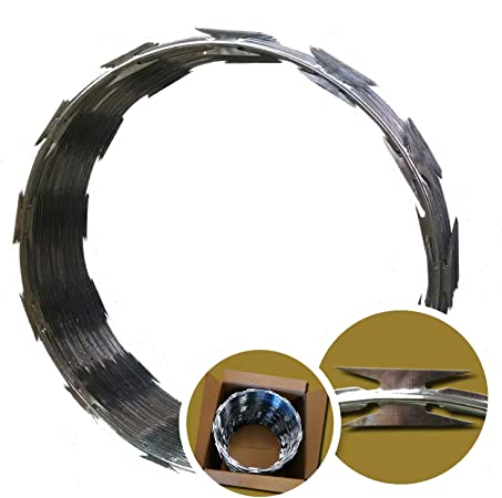 Amazon.com: Rollo de alambre de púas punzante, 18 ...