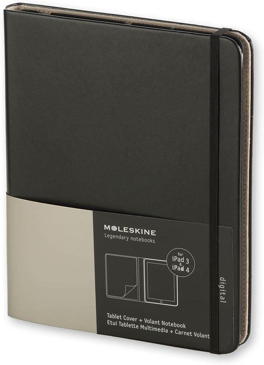 Moleskine Cover Für Digitalgeräte Ipad3 Ipad4 Slim Schwarz Bürobedarf Schreibwaren