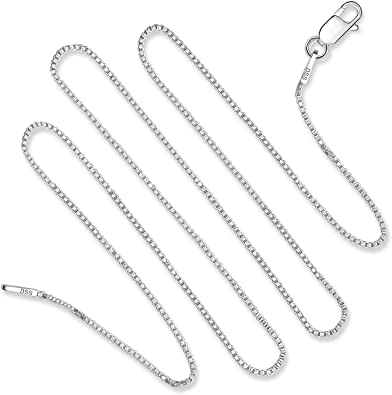 Italian Sterling Sterling Silver Chain Necklace-Silver Necklace-Pendant Chain A