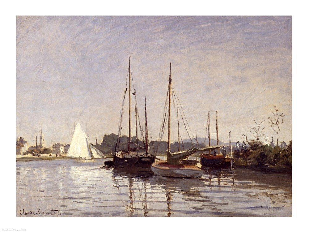 Amazon.com: Pleasure Boats, Argenteuil, c.1872-3 Claude Monet Art Print, 19  x 14 inches: Posters & Prints