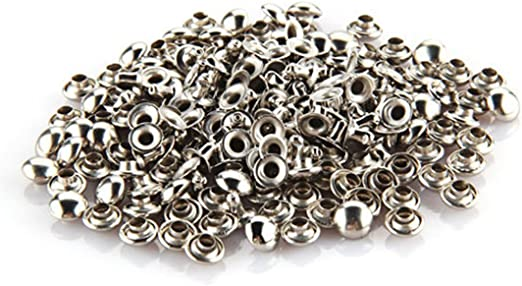 Practical 100Pcs 6mm Mushroom Round Spike Rivet Studs Punk Bracelet Bag Leather DIY Craft