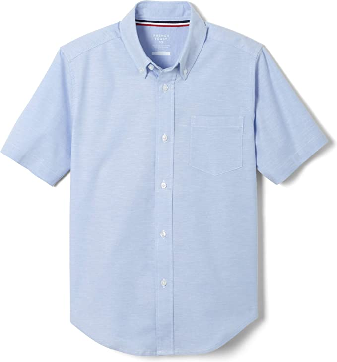 Yellow French Toast Big Boys Short Sleeve Classic Dress Shirt 20
