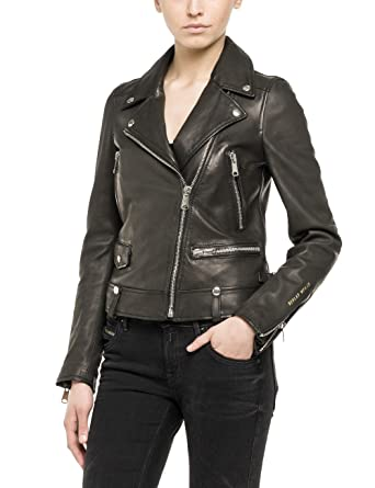 Lederjacke damen replay
