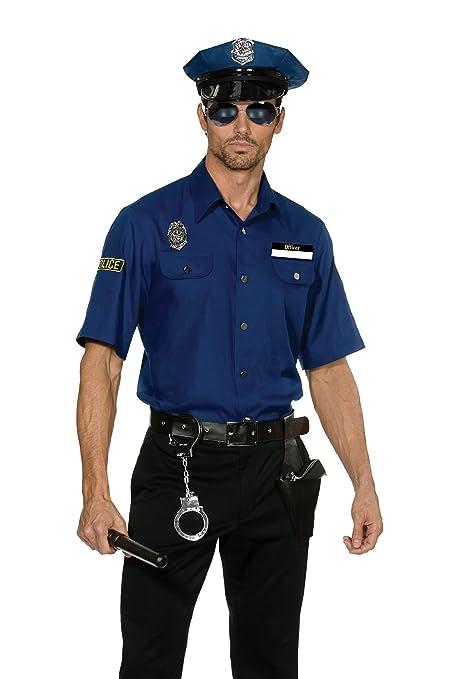 Dreamgirl - Disfraz de policía para hombre, color azul ...
