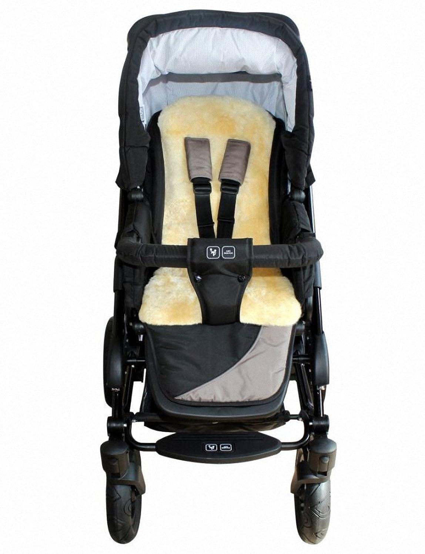 Baby Lammfellauflage 30 mm geschoren, für Tragschale, Buggy, Kinder Autositz, ca. 77x35 cm, waschbar für Tragschale Heitmann Felle