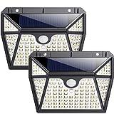 Luz Solar Exterior, Ekrist【Iluminación de 5 Lados】118 LED Luces Solares Foco Solar Exterior con Sensor de Movimiento…