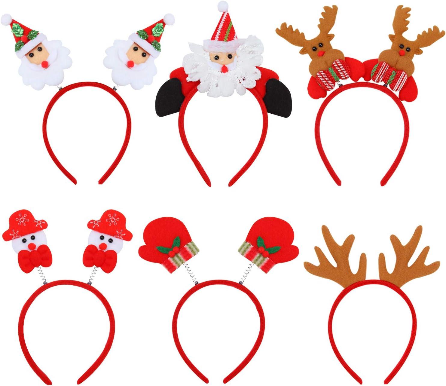 Xmas Hair Hoop Antlers Snowman Hairband Christmas Headband Hair Accessories