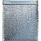 Boxes Fast BFINM1517 Cool Shield Insulated Bubble Mailers, 15'' x 17'', Silver (Pack of 50)