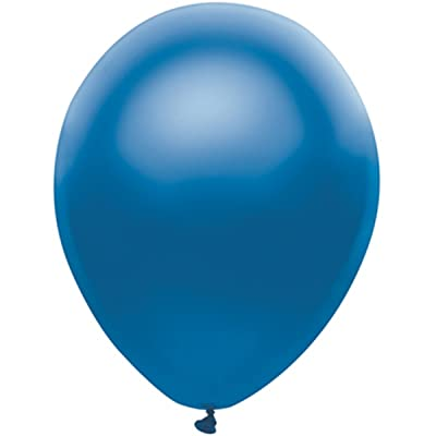 "25 Latex Balloons 12"" When Inflated Solid Colors - Royal Blue: Everything Else"