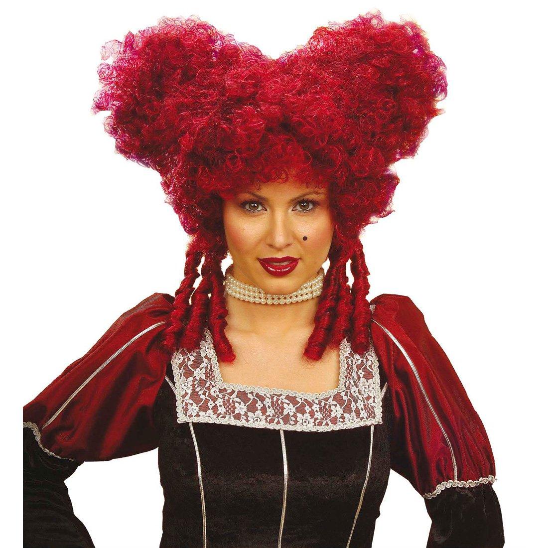 Clásico barroco rococó de la peluca para mujer rojo de la Edad media de carnaval de colour rojo: Amazon.es: Juguetes y juegos