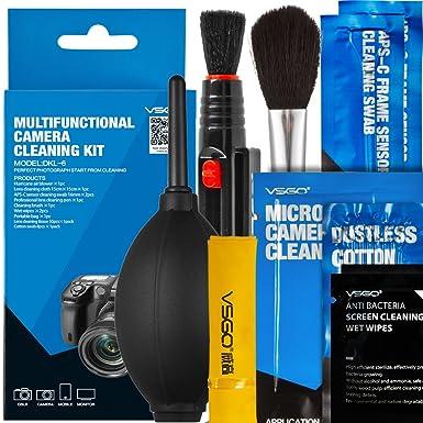 VSGO DKL-6 - Kit de Limpieza para cámara, Color Negro y Blanco