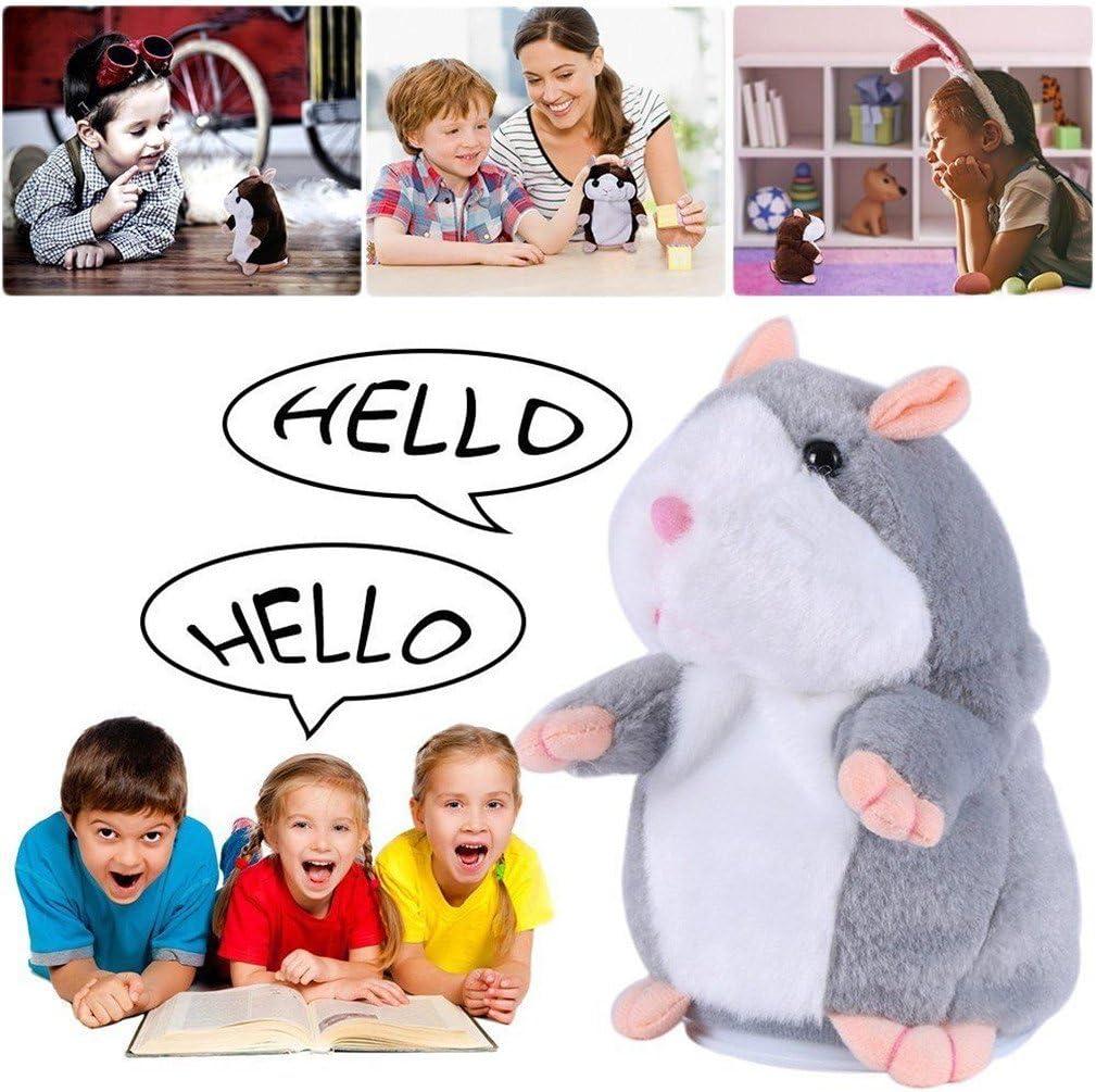Moonvvin 3PCS Talking Hamster Repeats What You Say Electronic Pet Talking Plush Toy