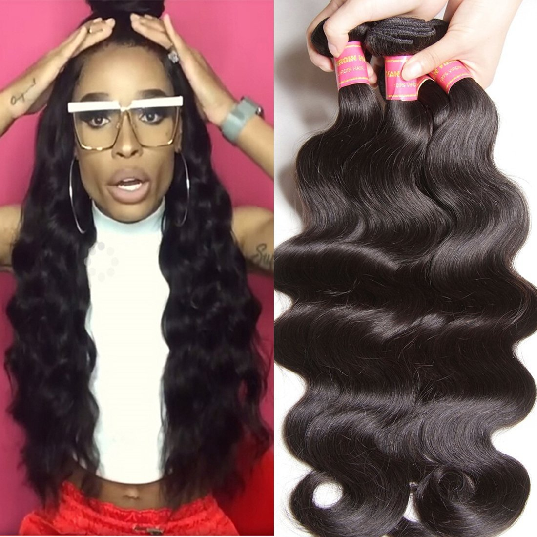 Amazon Longqi Beauty Peruvian Curly Weave Hair 3 Bundles